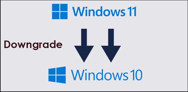 downgrade windows 11 to 10